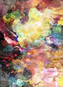 Designed watercolor background on grunge paper texture