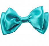 pic of bow tie hair  - Beautiful bow close up isolated on white background - JPG