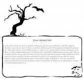 Hallowen ink vector background