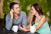 Listening to music on a date