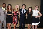 LOS ANGELES - JUL 29:  Charles M Davis, Phoebe Tonkin, Claire Holt, Joseph Morgan, Danielle Campbell, Leah Pipes arrive at the 2013 CBS TCA Party on July 29, 2013 in Beverly Hills, CA