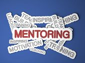 image of mentoring  - Mentoring Concept on Blue Background - JPG