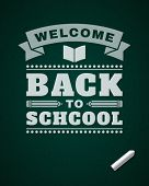 Back to school message on blackboard hand draw vector illustration eps 10