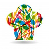 Cutlery Chef Hat Illustration