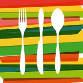 Cutlery Silhouettes Illustration