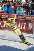 VAL D'ISERE FRANCE. 12-12-2010. COUSINEAU Julien CAN  is the fifth placed racer of the alpine skiing