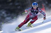 LIENZ, AUSTRIA 28 December 2009. Karolina Chrapek POL speeds down the course while competing in the