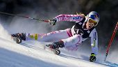 LIENZ, AUSTRIA 28 December 2009. Lindsey Vonn USA speeds down the course while competing in the firs