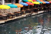 Guarda-chuvas do Riverwalk