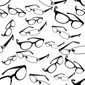 pic of protective eyewear  - image of glasses and spectacles vector  background - JPG