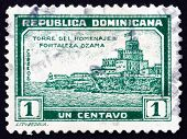 Postage Stamp Dominican Republic 1932 Tower Of Homage, Ozama For