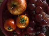 Apple Grape And Tomatoe