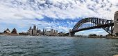 Sydney, Australia - Sydney Harbour Bridge, Opera House And City Buildings.
