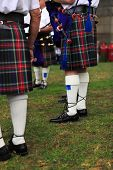 Sydney, Australia -january 26, 2013: Scottish Bagpipe Band Plays