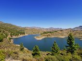 stock photo of canary  - Presa de la Cueva de las Ninas on Gran Canaria - JPG