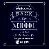 Back to school promotional chalkboard