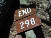 Fallen Trail Sign