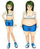 Illustration of Body Transformation from Fitness and Exercise