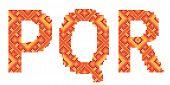 cross-stitch folk ornament letters P Q R