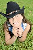 Teenage Girl With Cowboy Hat