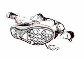 Breakdancer Illustration