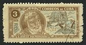 CUBA - CIRCA 1963: A stamp printed in Cuba shows image of the Ernest Miller Hemingway (July 21, 1899
