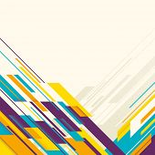 Colorful layout with angular abstraction. Vector illustration.