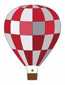 Red White Air Balloon