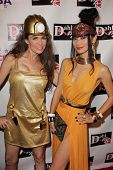 Alicia Arden and Bai Ling at the Monster Man Costume Ball, Cabo Wabo, Hollywood, CA 10-16-13