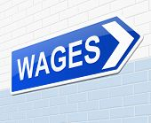 Wages Concept.