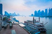 Beautiful Huangpu River At Dawn