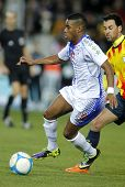 BARCELONA - DEC, 30: Cape Verdean player Garry Mendes in action during the friendly match between Catalonia and Cape Verde at Olympic Stadium on December 30, 2013 in Barcelona, Spain