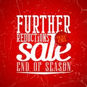 foto of year end sale  - Further reductions sale design in grunge style - JPG