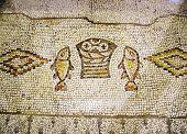 Ancient Mosaic Tabgha, Israel