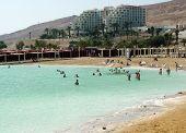 People Floating At The Dead Sea, Israel