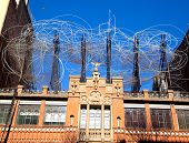 BARCELONA - FEB 23, 2012: Antoni Tapies foundation in Aragon street from 1984 of Domenech i Montaner architect, yo can find more than 300 artworks from the artist in Barcelona, Feb 23, 2012.