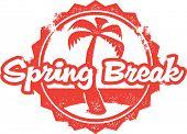 Vintage Spring Break Vacation Stamp