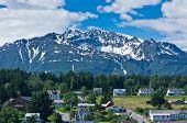 Beautiful View Of Haines City Near Glacier Bay, Alaska, Usa