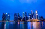 SINGAPORE - JANUARY 25 : Cityscape of Singapore Marina Bay Sand on January 25, 2014, Singapore.