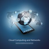 Global Networks, Cloud Computing | Eps 10 Vector for Your Business