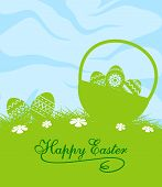 Fresh blue and green Easter background