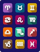 Set of icons of the signs of the zodiac