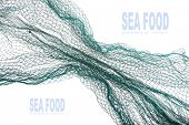 picture of fishnet  - Fishing net with space for your text - JPG