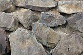Black Basalt Rock Retaining Wall 2