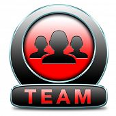 Team button or work or business our team banner about us sign icon or button