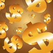 Gold Seamless Dollar Background