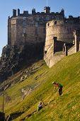 Digging Ground Beside Edinburgh Castle