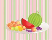 Fruits, vector illustration. Simply change