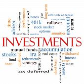 Investments Word Cloud Concept