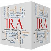 Ira 3D Cube Word Cloud Concept